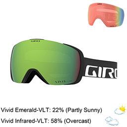 Giro Contact Goggles 2018, Black Wordmark-Vivid Emerald + Bonus Lens, 256
