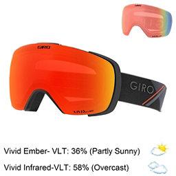 Giro Contact Goggles 2018, Black Red Sport Tech-Vivid Emb + Bonus Lens, 256
