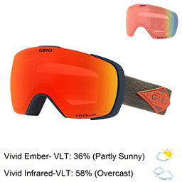 Giro Contact Goggles 2018, Turbulence Rust Mtn Div-Vivid + Bonus Lens, 256