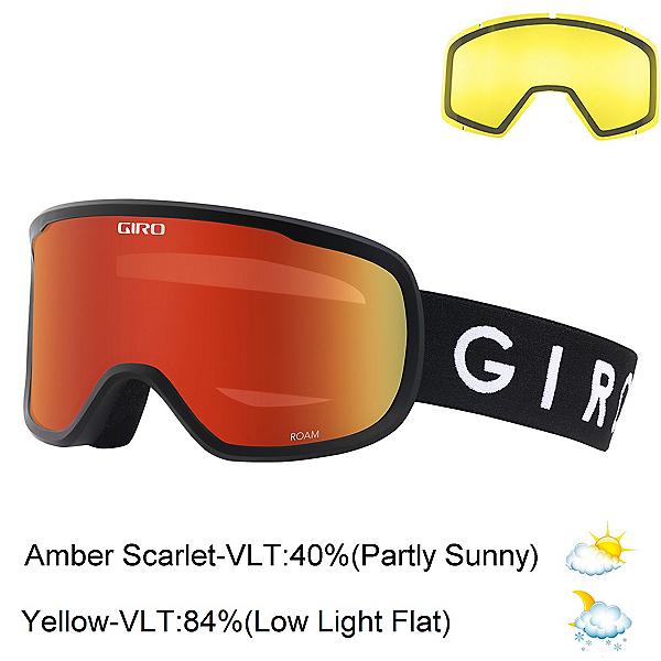 Giro Roam Goggles 2018, Black-Amber Scarlet + Bonus Lens, 600