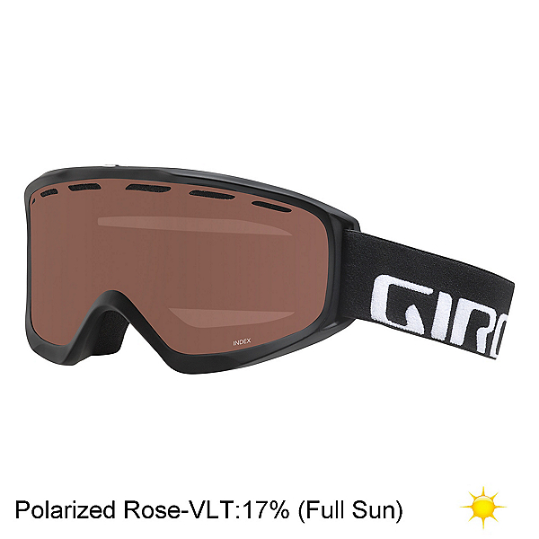 Giro Index OTG Goggles 2018, Black Wordmark-Polarized Rose, 600