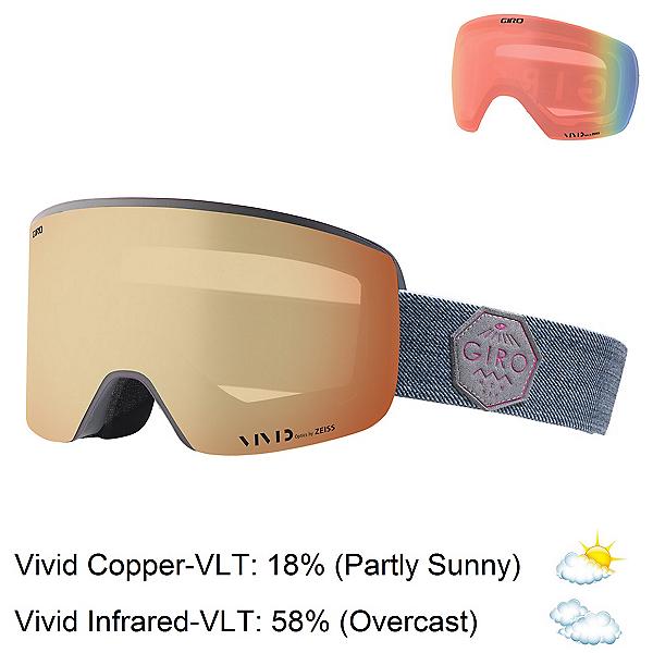 Giro Ella Womens Goggles 2018, Berry Mtn Division-Vivid Coppe + Bonus Lens, 600