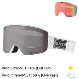 Giro Ella Womens Goggles 2018, White Silver Shimmer-Vivid Ony + Bonus Lens, 256