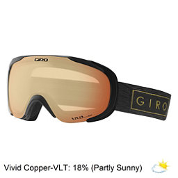 Giro Field Womens Goggles 2018, Black Gold Bar-Vivid Copper, 256