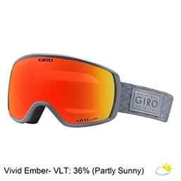 Giro Facet Womens Goggles 2018, Titanium Shimmer-Vivid Ember, 256