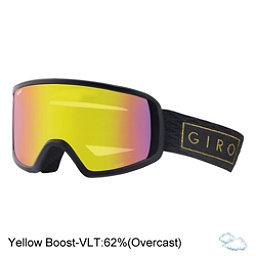Giro Gaze Womens Goggles 2018, Black Gold Bar-Yellow Boost, 256