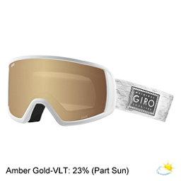 Giro Gaze Womens Goggles 2018, White Silver Shimmer-Amber Gol, 256