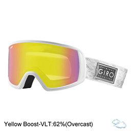 Giro Gaze Womens Goggles 2018, White Silver Shimmer-Yellow Bo, 256
