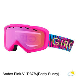 Giro Grade Youth Goggles 2018, Bright Pink Palm-Amber Pink, 256
