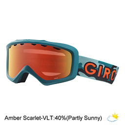 Giro Grade Youth Goggles 2018, Green Hideout-Amber Scarlet, 256