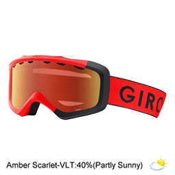 Giro Grade Youth Goggles 2018, Red Black Zoom-Amber Scarlet, 256