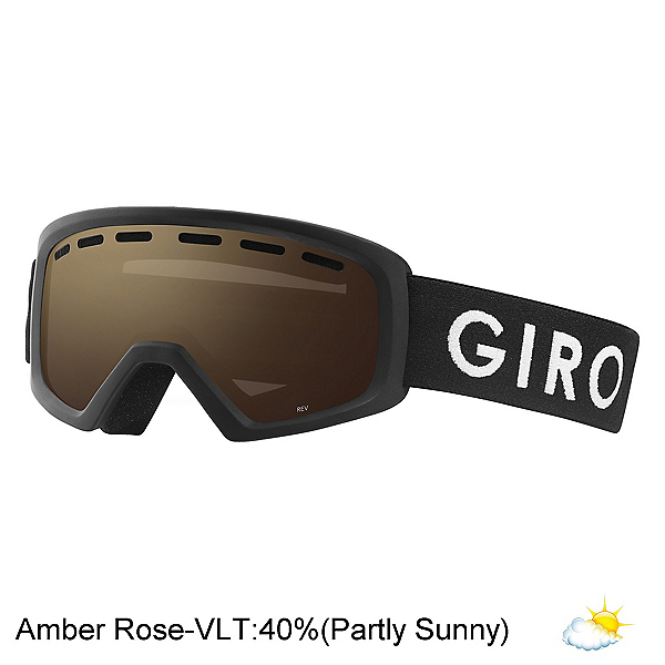 Giro Rev Youth Goggles 2018, Black Zoom-Amber Rose, 600