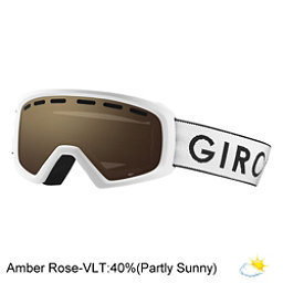 Giro Rev Youth Goggles 2018, White Zoom-Amber Rose, 256