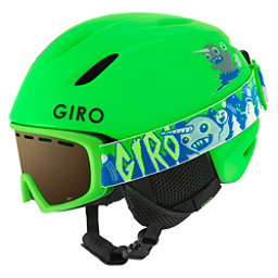 Giro Launch Combo Pack Kids Helmet 2018, Matte Bright Green, 256