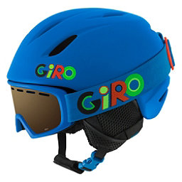 Giro Launch Combo Pack Kids Helmet 2018, Matte Blue Wild, 256