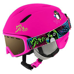 Giro Launch Combo Pack Kids Helmet 2018, Matte Bright Pink Penguin, 256