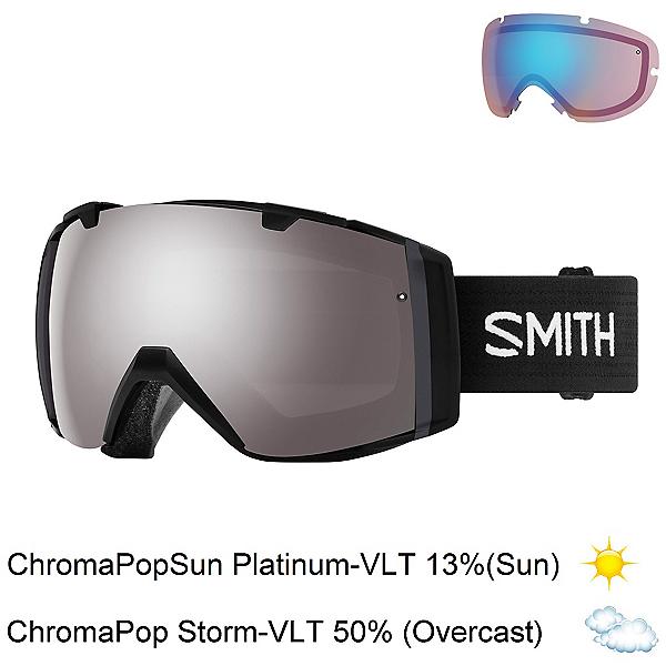Smith I/O Goggles 2018, Black-Chromapop Sun Platinum M + Bonus Lens, 600