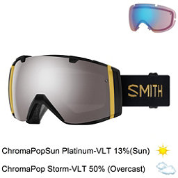 Smith I/O Goggles 2018, Black Firebird-Chromapop Sun P + Bonus Lens, 256