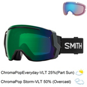 Smith I/O 7 Goggles 2018, Black-Chromapop Everyday Green + Bonus Lens, medium