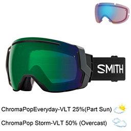 Smith I/O 7 Goggles 2018, Black-Chromapop Everyday Green + Bonus Lens, 256
