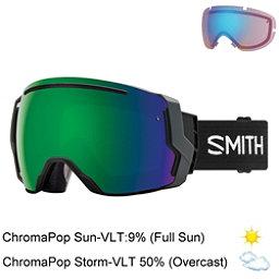 Smith I/O 7 Goggles 2018, Black-Chromapop Sun Green Mirr + Bonus Lens, 256