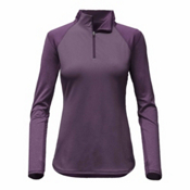 The North Face Motivation 1/4 Zip Womens Mid Layer, Dark Eggplant Purple, medium