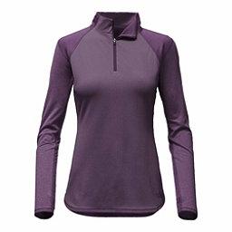 The North Face Motivation 1/4 Zip Womens Mid Layer, Dark Eggplant Purple, 256