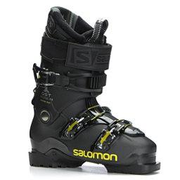 Salomon QST Access Custom Heat Ski Boots 2018, Metallic Black-Black-Acid Gree, 256