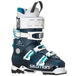 Salomon QST Access 80 W Womens Ski Boots 2018, Petrol Blue-Petrol Blue-Aqua B, 256