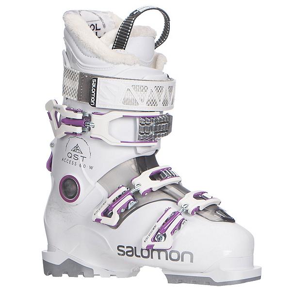 Salomon QST Access 60 W Womens Ski Boots 2018, White-Anthracite Translucent-P, 600