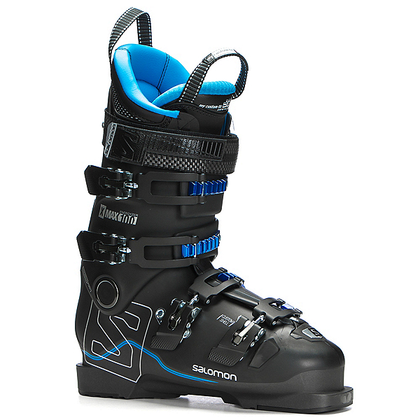 Salomon X-Max 100 Ski Boots 2018, Black-Metallic Black-Indigo Bl, 600