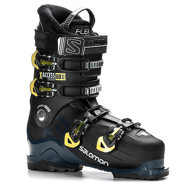 Salomon X-Access 80 Wide Ski Boots 2018, Black-Petrol Blue-Acid Green, 600
