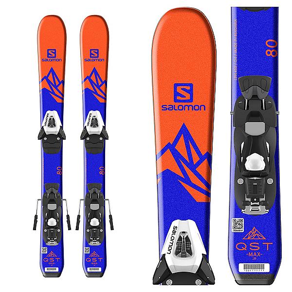 Salomon QST Max Jr. Kids Skis with C5 SR Ezytrak Bindings 2018, , 600