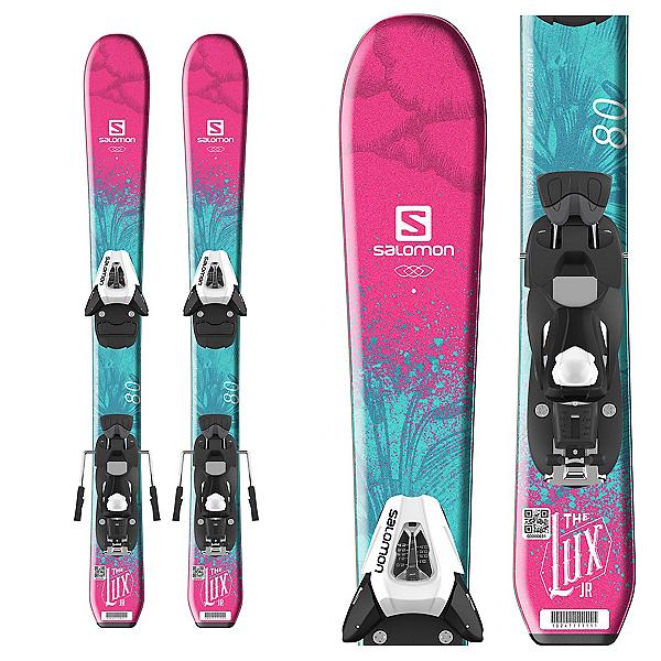 Salomon QST Lux Jr. Kids Skis with C5 SR Ezytrak Bindings 2018, , 600