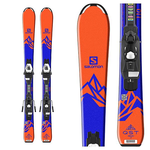 Salomon QST Max Jr. Kids Skis with C5 Ezytrak Bindings 2018, , 600