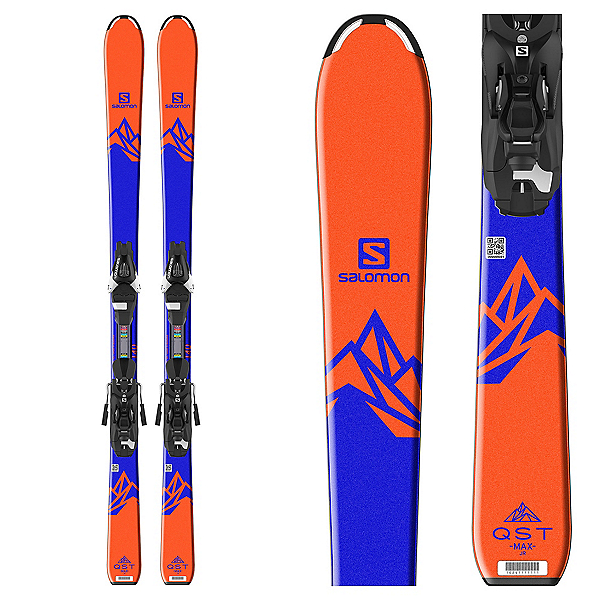 Salomon QST Max Jr. Kids Skis with L7 Ezytrak Bindings 2018, , 600