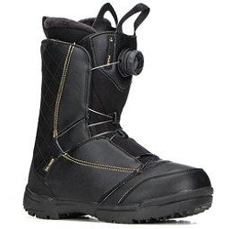 Salomon Pearl Boa Womens Snowboard Boots 2018, Black-Gold, 256