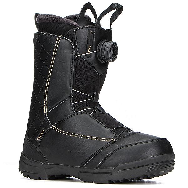Salomon Pearl Boa Womens Snowboard Boots 2018, Black-Gold, 600