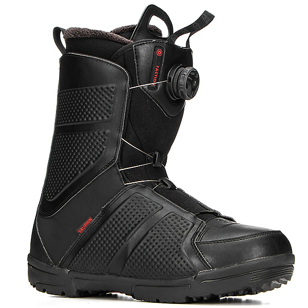 Salomon Faction Boa Snowboard Boots 2018, Black, 600