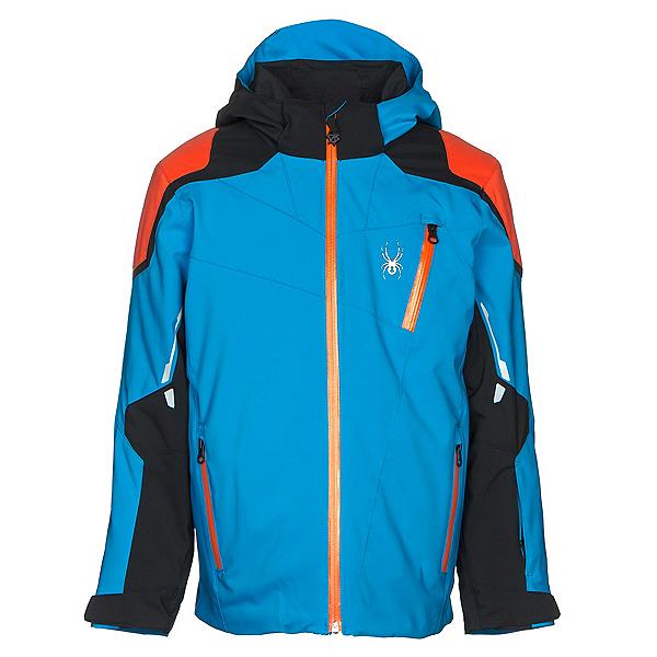 Spyder Speed Boys Ski Jacket, French Blue-Black-Burst, 600