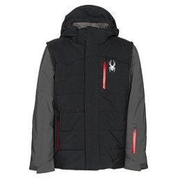 Spyder Axis Boys Ski Jacket, Black-Polar-Red, 256