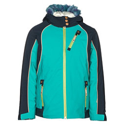 Spyder Posh Faux Fur Girls Ski Jacket, Baltic-Frontier, 256