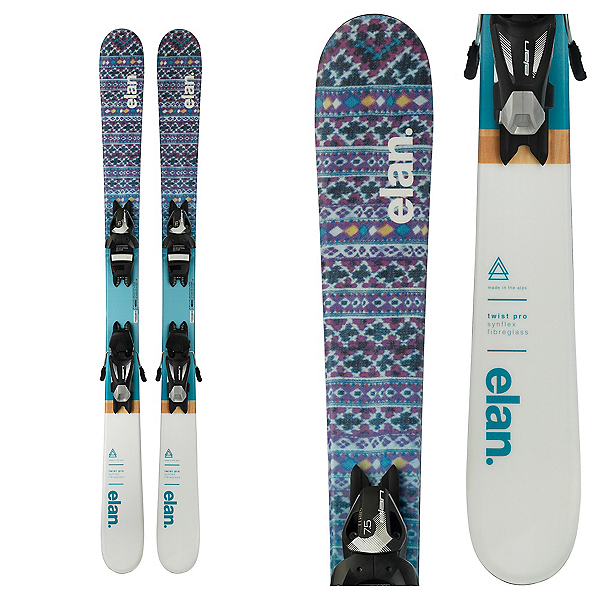 Elan Twist Pro Kids Skis with EL 7.5 Bindings 2018, , 600