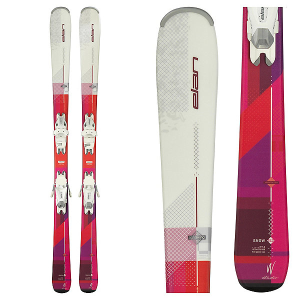 Elan Snow Womens Skis with EL 7.5 Bindings 2018, , 600