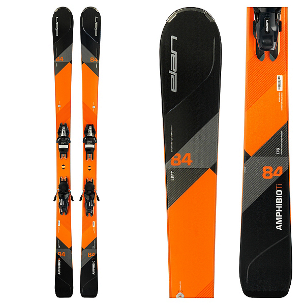 Elan Amphibio 84 Ti Skis with ELS 11.0 Bindings 2018, , 600