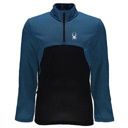 Spyder Capitol Fleece Half Zip Mens Mid Layer, French Blue-Black, 256