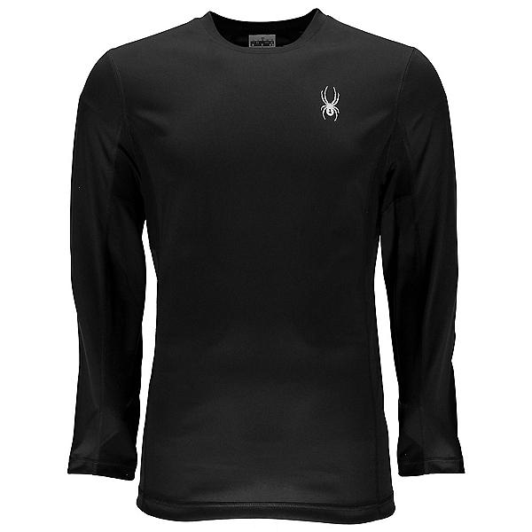 Spyder Alps Long Sleeve Tech Tee Mens Mid Layer, Black-Black, 600