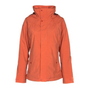 Burton Jet Set Womens Insulated Snowboard Jacket, Persimmon, medium