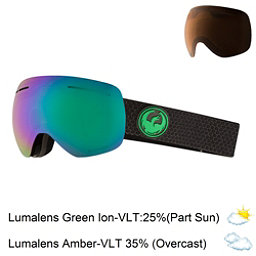 Dragon X1 S Goggles 2018, Split-Lumalens Green Ion + Bonus Lens, 256