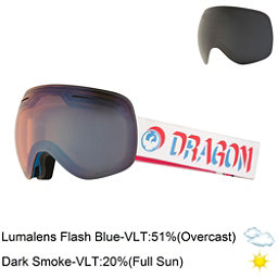 Dragon X1 Goggles 2018, Verge-Lumalens Flash Blue + Bonus Lens, 256